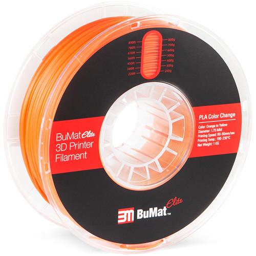 BuMat Elite 1.75mm Color Change by Temperature Filament (1kg, Yellow to Orange)
