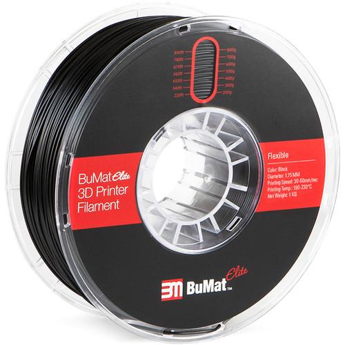 BuMat Elite 1.75mm Flexible Filament (1kg, Black)