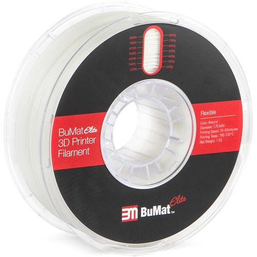 BuMat Elite 1.75mm Flexible Filament (1kg, Natural)