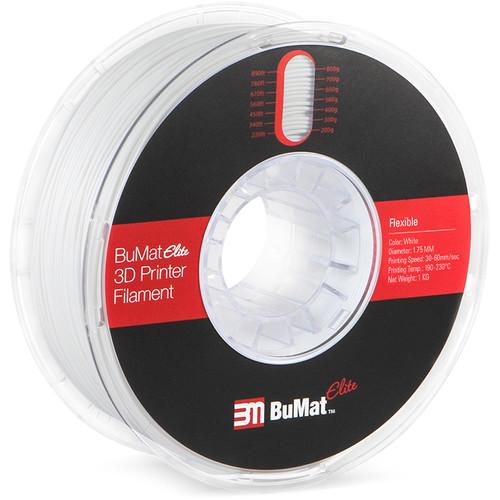 BuMat Elite 1.75mm Flexible Filament (1kg, White)
