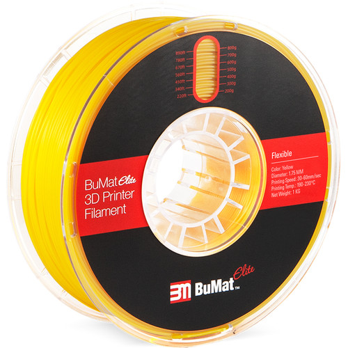 BuMat Elite 1.75mm Flexible Filament (Yellow)