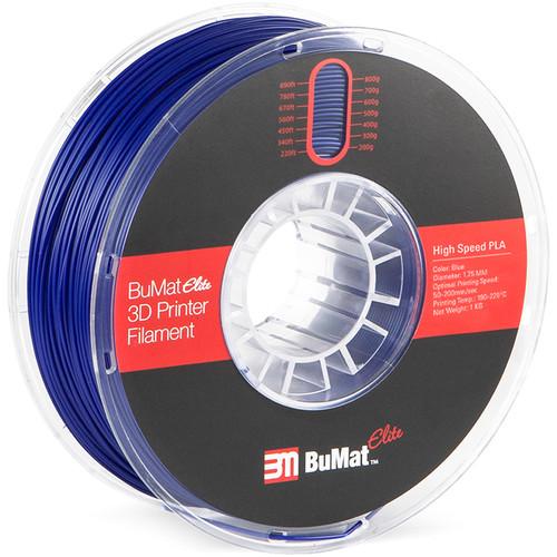 BuMat Elite 1.75mm High-Speed PLA Filament (1kg, Blue)