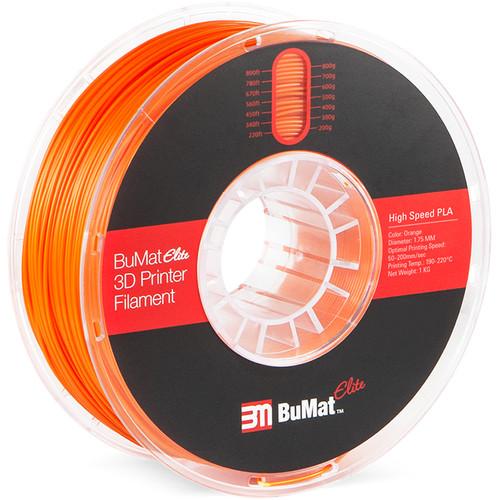 BuMat Elite 1.75mm High-Speed PLA Filament (1kg, Orange)