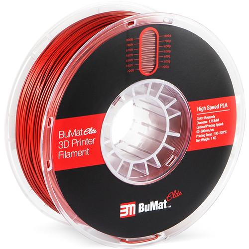 BuMat Elite 1.75mm High-Speed PLA Filament (1kg, Burgundy 4C)