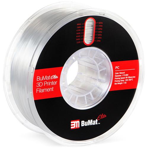 BuMat Elite 1.75mm Polycarbonate Filament (1kg, Natural)