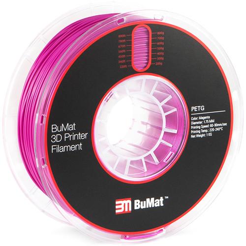 BuMat 1.75mm PETG Filament (Magenta)