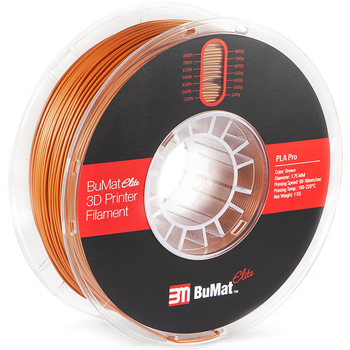 BuMat Elite Professional 1.75mm PLA Filament (Brown)