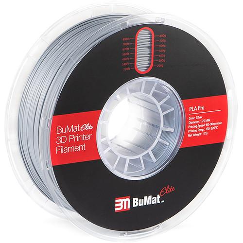 BuMat Elite Professional 1.75mm PLA Filament (1kg, Silver)
