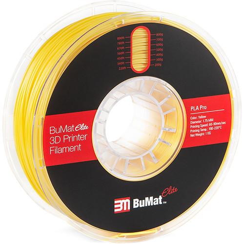 BuMat Elite Professional 1.75mm PLA Filament (1kg, Yellow)