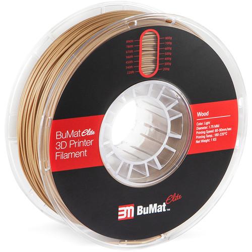 BuMat Elite 1.75mm Wood Filament (1kg, Light Wooden)