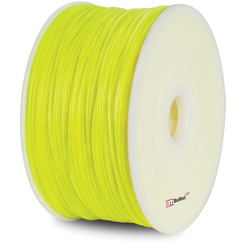 BuMat Elite 1.75mm ABS Filament (2.2 lb, Luminous Yellow)