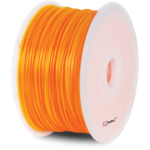 BuMat Elite 1.75mm PLA Filament (2.2 lb, Fluorescent Orange)