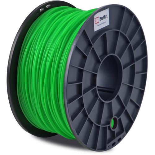 BuMat 1.75mm PLA Filament (1kg, Glow-in-the-Dark Green)