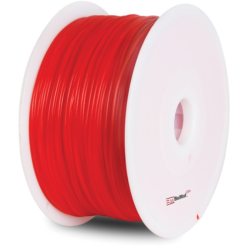 BuMat Elite 1.75mm PLA Filament (2.2 lb, Luminous Red)