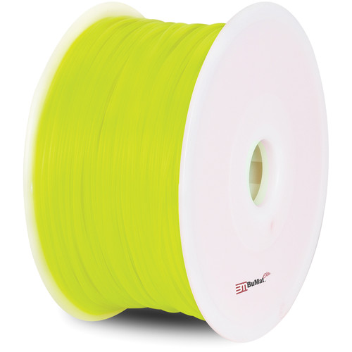 BuMat Elite 1.75mm PLA Filament (2.2 lb, Luminous Yellow)