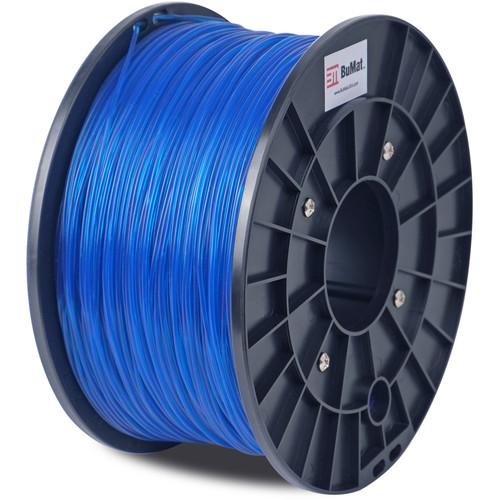 BuMat 1.75mm Translucent PLA Filament (1kg, Blue)