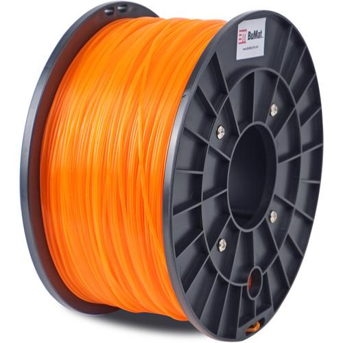 BuMat 1.75mm Translucent PLA Filament (1kg, Orange)
