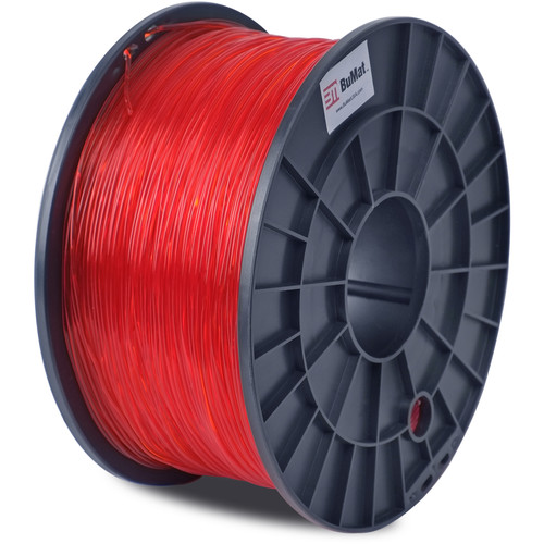 BuMat 1.75mm Translucent PLA Filament (1kg, Red)