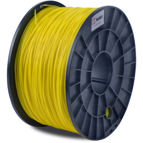 BuMat 1.75mm Translucent PLA Filament (1kg, Yellow)