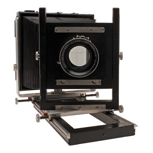 Burke-James 8x10 Wood Field Camera (Black) with Schneider 360mm f/5.6 Symmar Convertable Lens in a Compound Shutter
