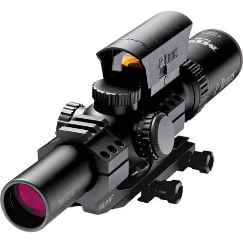 Burris Optics 1-4x24 MTAC Riflescope and FastFire III Reflex Sight Kit (Ballistic CQ Illuminated Reticle, Matte Black)
