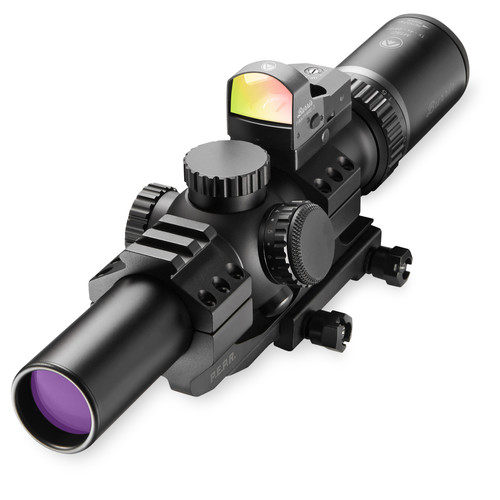 Burris Optics 1-4x24 MTAC Riflescope and FastFire III Reflex Sight Kit (Ballistic AR Illuminated Reticle, Prym 1 Blackout)
