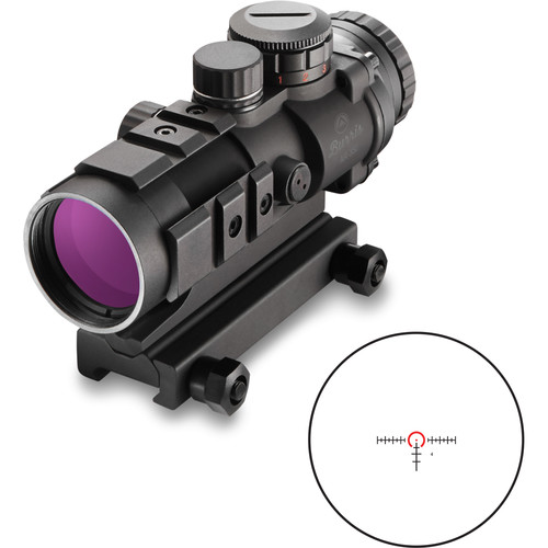 Burris Optics 3x32 AR-332 Rifle Sight (Red-Green Ballistic AR Reticle, Matte Black)