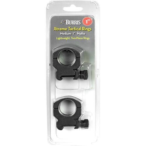 """Burris Optics Xtreme Tactical Riflescope Rings (1"""", Aluminum, Medium, Matte Black)"""