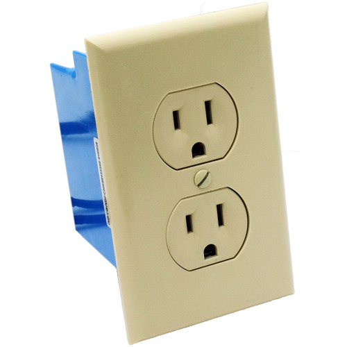 Bush Baby Wall Outlet with 4K UHD Covert Wi-Fi Camera (Beige)