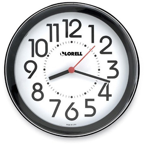 Bush Baby Stealth Wall Clock with Covert 1920 x 1080 Camera (Black)