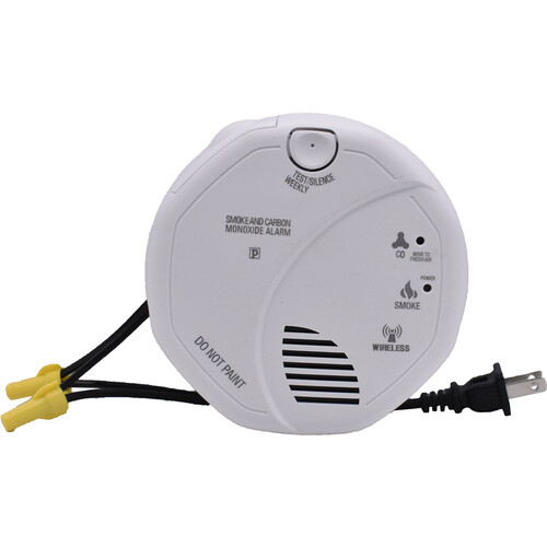 Bush Baby Stealth HD Wi-Fi Hardwired Smoke Detector with Front-View Camera