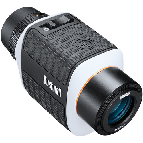 Bushnell 8x25 StableView Image Stabilized Monocular (Black/White)