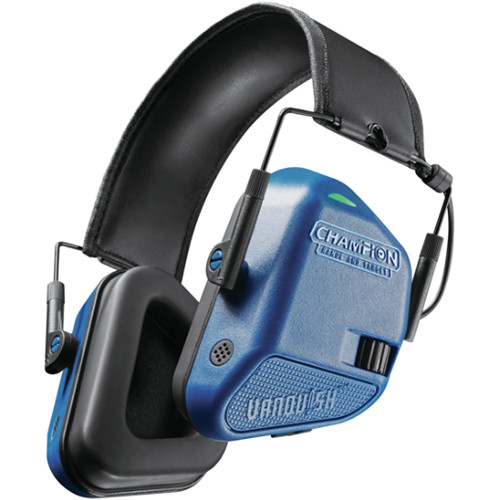 Bushnell Vanquish Electronic Hearing Protection Ear Muffs (Blue)