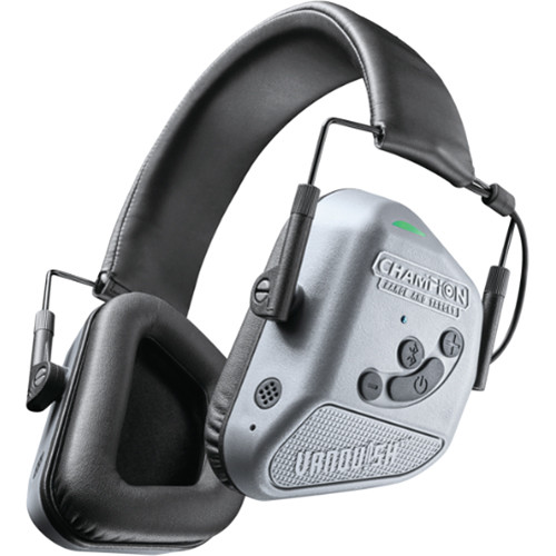 Bushnell Vanquish Pro Electronic Hearing Protection Bluetooth Headphones (Gray)
