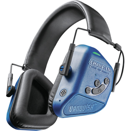 Bushnell Vanquish Pro Electronic Hearing Protection Bluetooth Headphones (Blue)