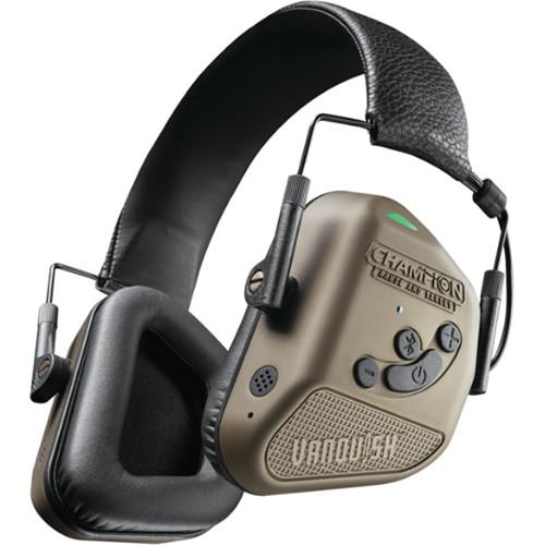 Bushnell Vanquish Pro Elite Electronic Hearing Protection Noise-Canceling Bluetooth Headphones (Burnt Bronze)