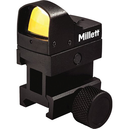 Millett M-Pulse Reflex Sight with 5 MOA Red Dot and Picatinny Riser (Box)