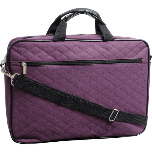 "Buxton Quilted Case for 17"" Laptop (Plum)"