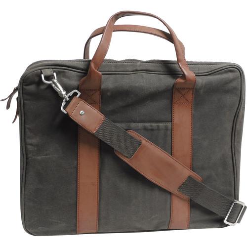 Buxton DOPP Canvas Slim Briefcase (Olive)
