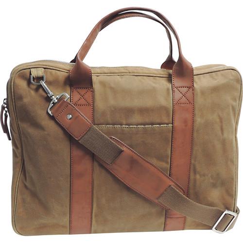 Buxton DOPP Canvas Slim Briefcase (Tan)