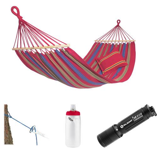 Byer of Maine Aruba Hammock with Water Bottle & Flashlight Kit (Cayenne Red)