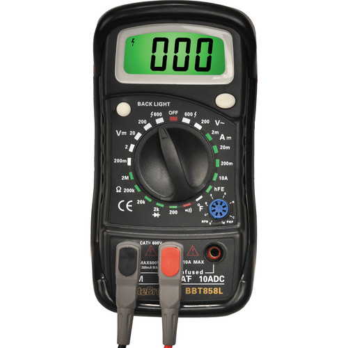 Byte Brothers BBT858L Precision Data Hold Digital Multimeter with Temperature Probe