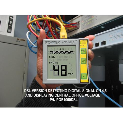 Byte Brothers POE1000DSL Power Panel CAT5/6 DVM & Network/ PoE Tester with DSL Sensing (Inline Model, Single Jack)