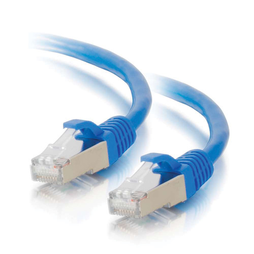 C2G CAT6 Snagless Shielded STP Ethernet Network Patch Cable (35', Blue)
