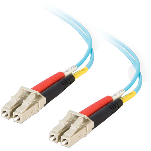 C2G LC Male to SC Male 10GB 50/125 Fiber Optic Cable OM3 (59.1', Aqua)