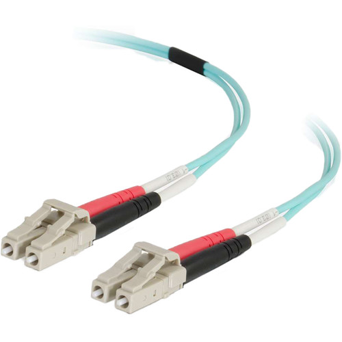 C2G 50/125 LC Male to LC Male Multimode Fiber Optic OM4 Cable (1.6')