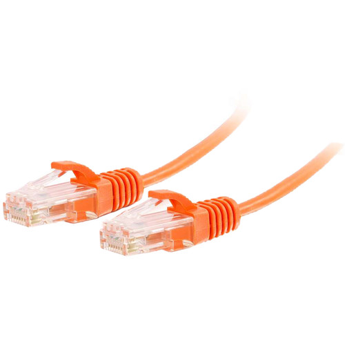 C2G RJ45 Male to RJ45 Male Slim Cat 6 Patch Cable (5', Orange)