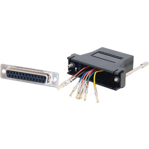 C2G RJ45 Female to DB25 Female Modular Adapter (Black)