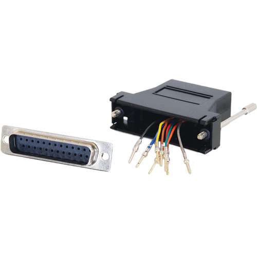 C2G RJ45 Female to DB25 Male Modular Adapter (Black)