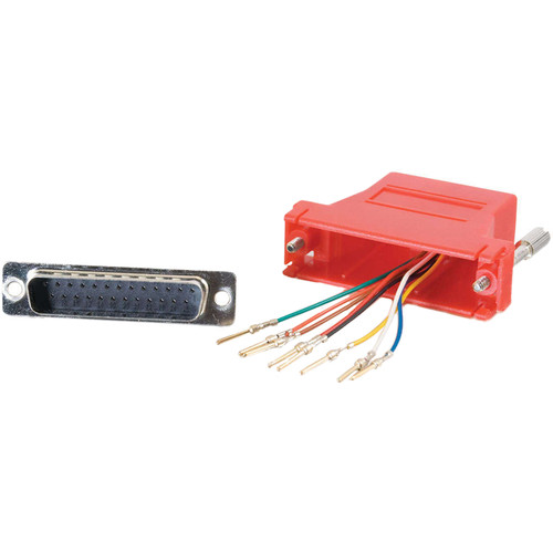 C2G RJ45 Female to DB25 Male Modular Adapter (Red)